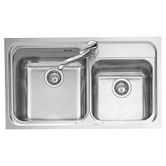 Jollynox 1io90/2k Built-in sink 86x50 cm - inox 2 tanks Omnia