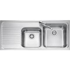 Jollynox 1io120/2sk Recessed sink 116x50 cm - inox 2 tanks + left dropped Omnia