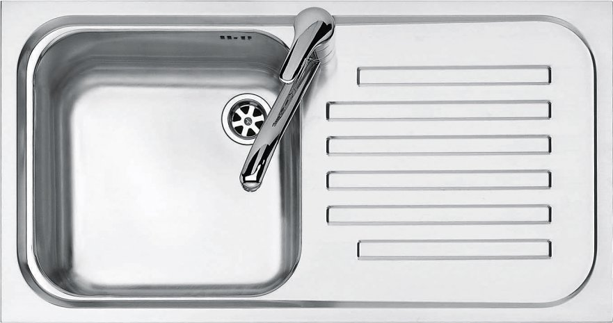 Jollynox built-in sink 1 bowl 1I8050 / 1.90DK - 79 x 42 with right drip - stainless steel - front