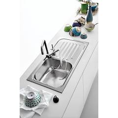 Jollynox built-in sink 1 bowl 1I8050 / 1.90DK - 79 x 42 with right drip - stainless steel - ambient