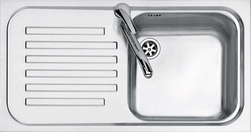 Jollynox built-in sink 1 bowl 1I8050 / 1.90SK - 79 x 42 with left drip - stainless steel - front