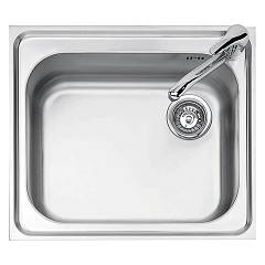 Jollynox 1i60/1k Built-in sink cm 58.5x50 - inox 1 bowl Big