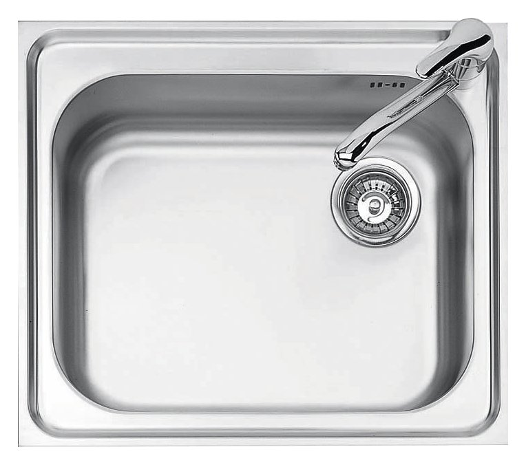 Jollynox 1I60 / 1K built-in sink 1 bowl - 59 x 50 - stainless steel - front