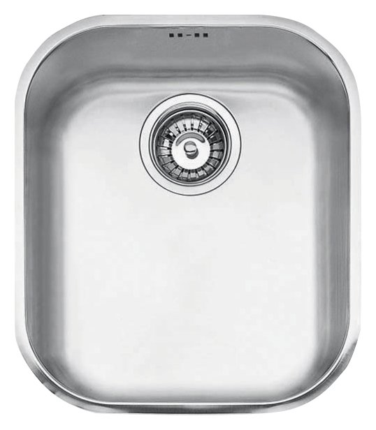 Jollynox 1-bowl undermount sink 1I3439S - 34 x 39 - stainless steel - front