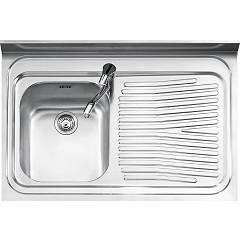 Jollynox 190/1d3k Free standing sink cm. 90 x 60 - satin stainless steel 1 bowl + drip mold right Free Standing