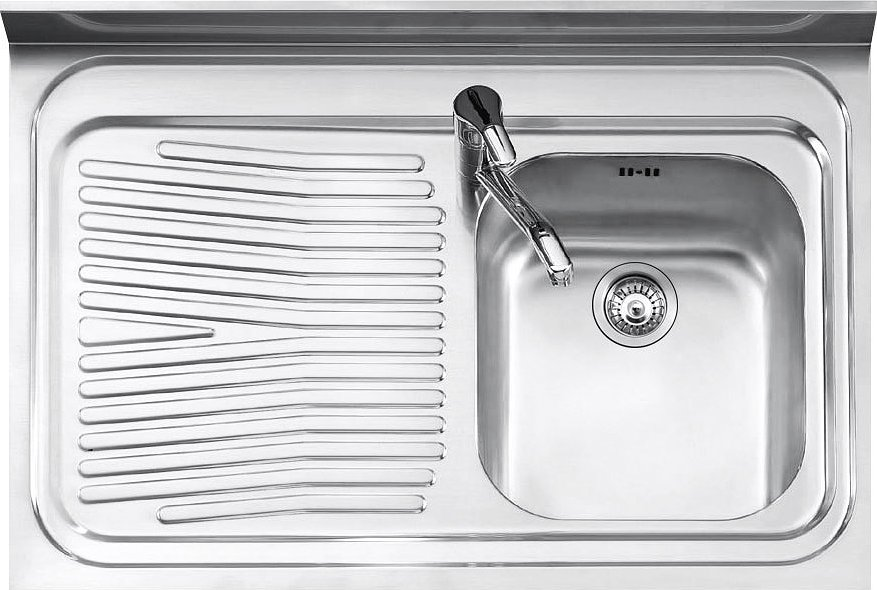 Jollynox 190 1s3k Free Standing 1 Support Basin Sink Cm 90 X 60 With Left Drip Satin Stainless Steel Vieffetrade