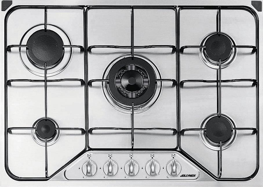 Jollynox gas hob 1PI411 / 70VE cm. 70 - stainless steel - front