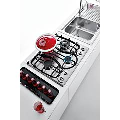 Jollynox gas hob 1PI311OMVE cm. 59 - stainless steel - room side in use