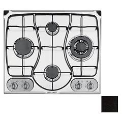 Jollynox 1px311omve Built-in hob 60 cm - black granite enamelled grids Omnia