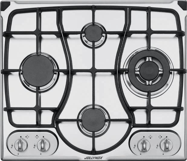 Jollynox gas hob 1PI311OMGVE cm. 59 - stainless steel - front