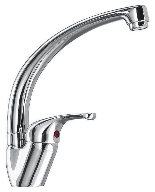 Jollynox TOP kitchen mixer - chrome - front
