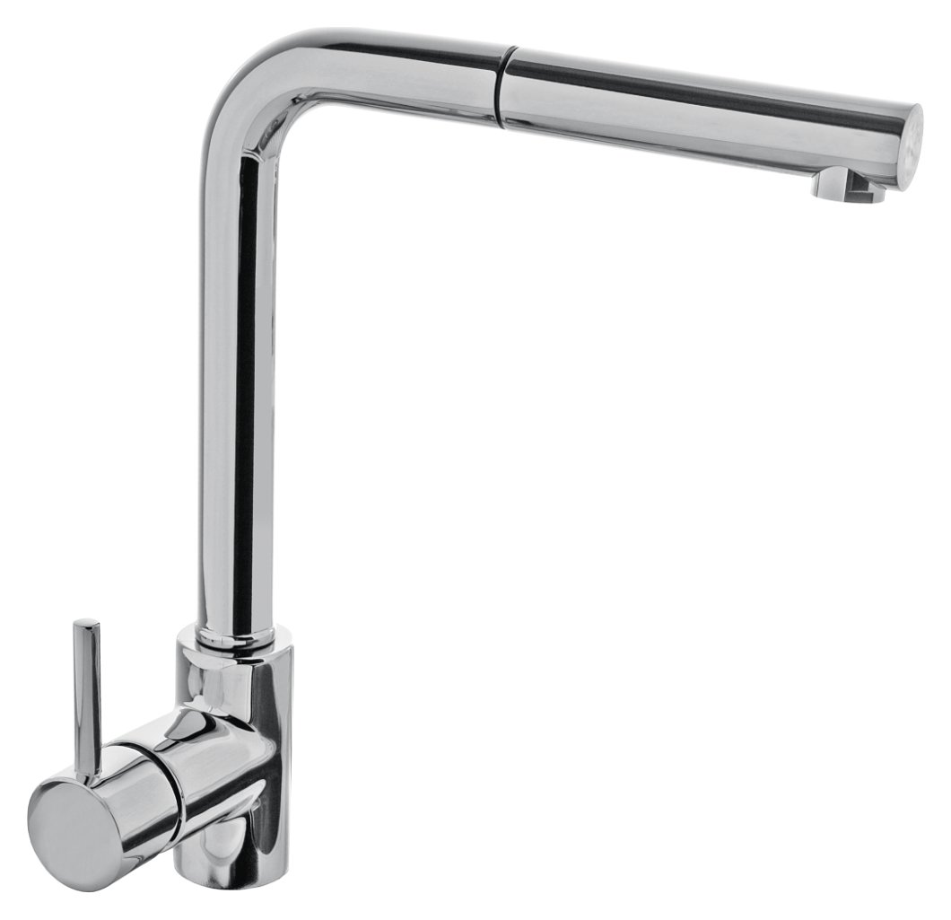 Kitchen mixer with Jollynox VEGA hand shower - chrome - front