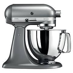 sale Kitchenaid Iksm125cu Planetary Artisan 4.8 Lt - Silver Plated - 5 Years Warranty