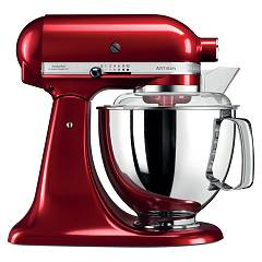 sale Kitchenaid Iksm175pca Planetary Artisan 4.8 Lt - Apple Red Metallic - 5-year Warranty