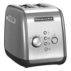 Kitchenaid Ikmt221cu Toaster 2 compartments - silver plated