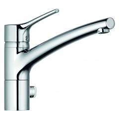 Kludi 335769675 Kitchen mixer - stainless steel single lever with washing machine or dishwasher Trendo