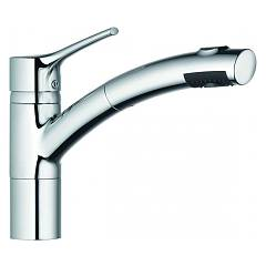 Kludi 335819675 Kitchen mixer - stainless steel single lever with shower Trendo