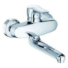 Kludi 328820575 Kitchen mixer - chrome single-lever wall Objekta