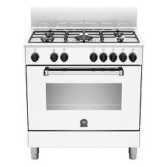 La Germania Amn805mfeswe Kitchen from accosto cm. 80 x 50 - white 1 electric oven + 5 gas burns Americana