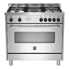La Germania Amn905mfesxt Kitchen from accosto cm. 90 x 60 - inox 1 electric oven + 5 gas burns Americana