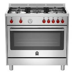 La Germania Prm905mfesxt Kitchen from accosto cm. 90 x 60 - inox 1 electric oven + 5 gas burns Prima