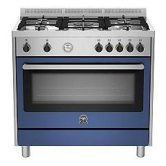 La Germania Prm905mfesxbt Striking kitchen cm. 90 x 60 - blue 1 electric oven + 5 gas burners Prima