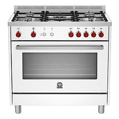La Germania Prm905gevswc Kitchen from accosto cm. 90 x 60 - white 1 gas oven + 5 gas burns Prima