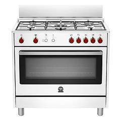 La Germania Prm905gevswe Kitchen from accosto cm. 90 x 60 - white 1 gas oven + 5 gas burns Prima