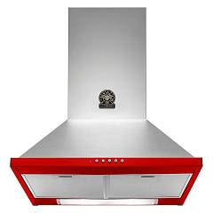 La Germania K60rixra/19 Wall hood cm. 60 stainless steel and red - motor capacity 600 m3 / h