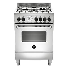 La Germania Amn664ext Kitchen cm. 60 stainless steel 4 gas burners - single electric oven Americana