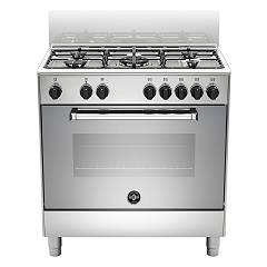 La Germania Amn855exv Kitchen cm. 80 stainless steel 5 gas burners - single electric oven Americana