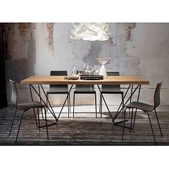 La Primavera Denis Fixed / extendable table - metal structure with wooden top veneered | hpl | fenix