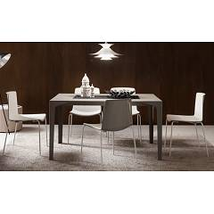 La Primavera Ettore Fixed / extendable table - metal frame with hpl top | fenix