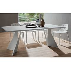 La Primavera Claudio Fixed table - metal structure with wooden top hpl | fenix
