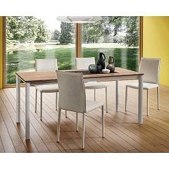 La Primavera Aaron Super Quadrato Extendable table - metal structure with hpl top fenix