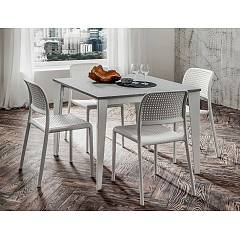 La Primavera Carlo Super Quadrato Extendable table l. 100 x 100 - metal structure with hpl top fenix