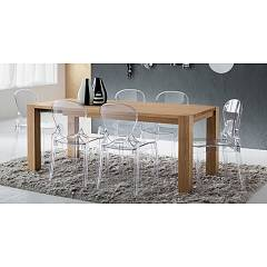La Primavera Sergio Fixed / extendable wooden table