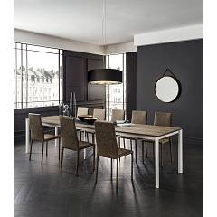 La Primavera Aaron Super Rettangolare Extendable table - metal frame with hpl top | fenix | laminam
