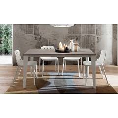 La Primavera Carlo Fixed / extendable table - metal frame with hpl top | fenix | laminam | glass