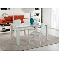La Primavera Davide Fixed / extendable table - metal frame with hpl top | fenix | laminam | glass