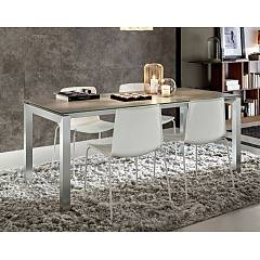 La Primavera Luca Fixed / extendable table - metal frame with hpl top | fenix | laminam | glass