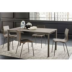La Primavera Aaron Fixed / extendable table - metal frame with hpl top | fenix | laminam | glass