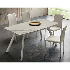 La Primavera Neil Fixed / extendable table - metal frame with hpl top | fenix | laminam