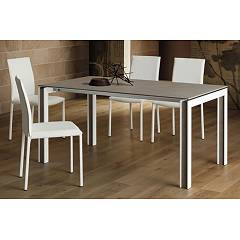 La Primavera Giovanni Fixed / extendable table - white wooden frame with hpl top | fenix | laminam | glass