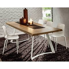 La Primavera Bruno Fixed / extendable table - metal frame with wooden top | hpl | fenix
