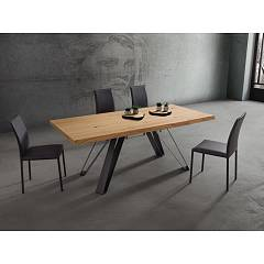 La Primavera Noah Fixed / extendable table - metal frame with hpl top | stratified hpl | fenix | layered fenix | wood | laminam