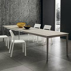 La Primavera Bill Super Rettangolare Extendable table - wooden frame with hpl top | fenix | laminam