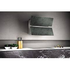 Lav.in L039p09e41 - Flap Wall-mounted hood cm. 90 - gray savoyia stone