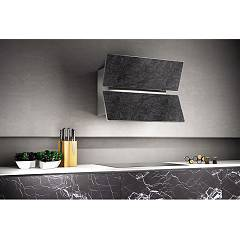 Lav.in L039p09e44 - Flap Wall hood cm. 90 - anthracite savoya stone