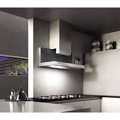 Lav.in L037p09e44 - Shelf Wall-mounted hood cm. 90 - the stone savoy anthracite